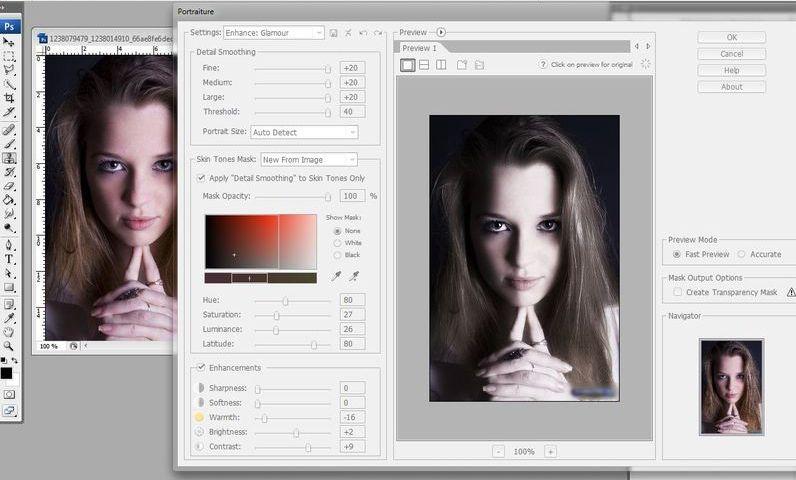 Плагин Portraiture для фотошопа