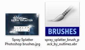 файлы в архиве брызги для фотошопа